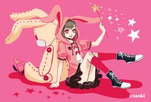 Magical Rabbit by saaki-pyrop