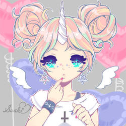 unicorn girl by saaki-pyrop
