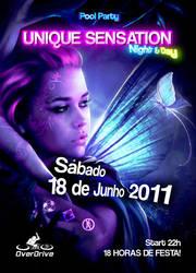 Flyer for Unique Sensation by jntesteves