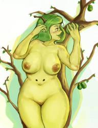 Pear Dryrad by RoyaleMay