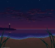 Dark Beach by Forheksed