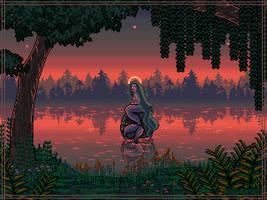 Forest mermaid [mermay pixels] by Forheksed