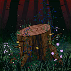 Forest stump by Forheksed