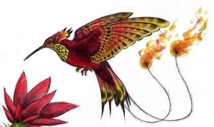 Hummingbird Phoenix by azraelkarasu