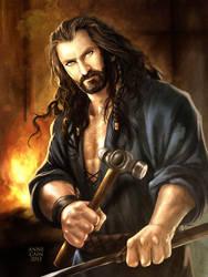 The Hobbit: Metalsmith Thorin by annecain