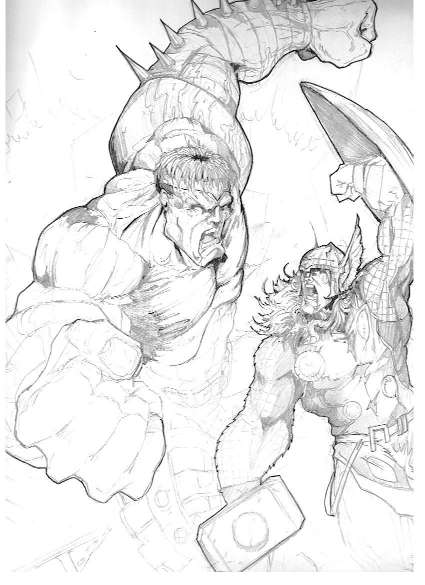 World War hulk and Thor by victoroil