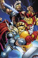 Thor, Ares and Kurse color by victoroil