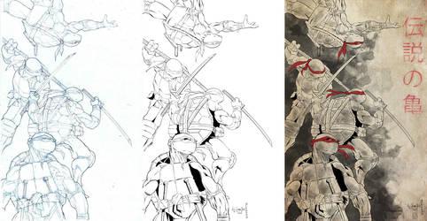 NYCC 2013 print progression by victoroil