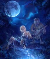 Full moon serenade by SpaceWeaver