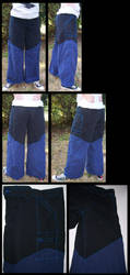 black blue pants by gryphonsshadow