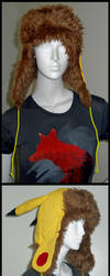 Pikachu Bomber Hat by gryphonsshadow