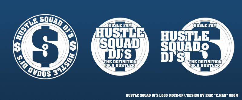 Hustle Squad Logo Mock-Up by EMANDesigns