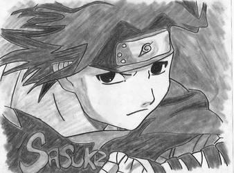 Sasuke - CharCoal Pic by DimiraGurl