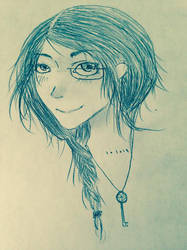 Semi Realistic Self Portrait by The-Living-Sketch