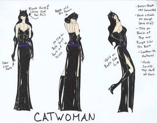 Catwoman Bridesmaid Dress by hiddenjester
