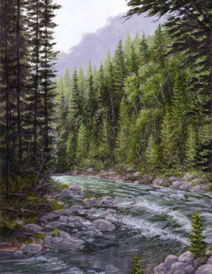 Small Mountain River by Choedan-Kal