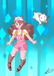 Bee and Puppycat by sealands-eyebrows