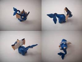 Chibi Vaporeon Sculpture by CharredPinappleTart