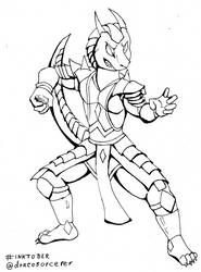 Inktober 7 - Dracosocerer by smartwhitefang