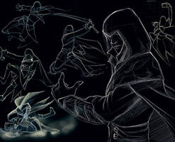 Ezio sketches by rooster82