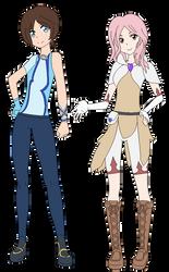 Final Fantasy XV: Megan 'Shadow' and Katy ''Revy'' by shadowrosa6