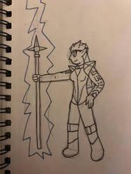 Inktober: Thunder by Senaneone
