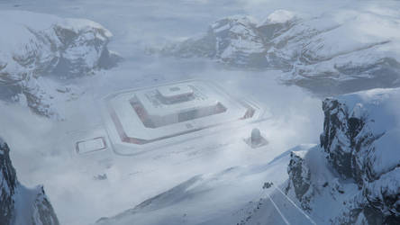 Secret Arctic Space Station by FranklinChan