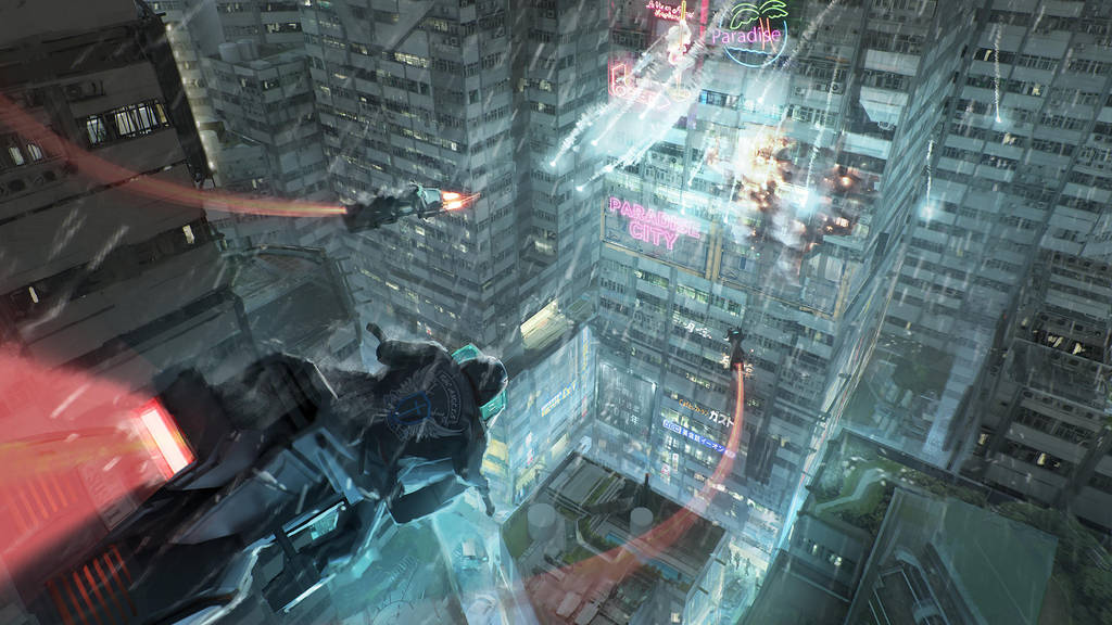 Cyberpunk Series 06 - Paradise City by FranklinChan