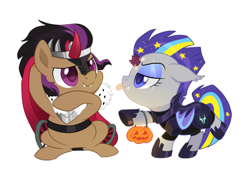 King Stellar and Tempest Lark by pepooni