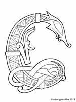 Wyrms Alphabet: C by twistedstrokes