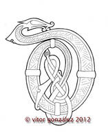 Wyrms Alphabet: D by twistedstrokes
