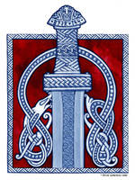 Viking Art Contest Entry - Viking Sword by twistedstrokes