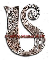 Oseberg Alphabet: U by twistedstrokes