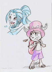 Vivi and Chopper: my style by Aeolus06