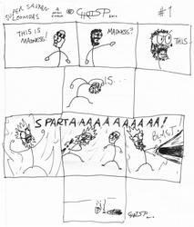 Super Saiyan Leonidas by crosph