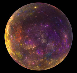 Yellow Violet Planet by PaulineMoss