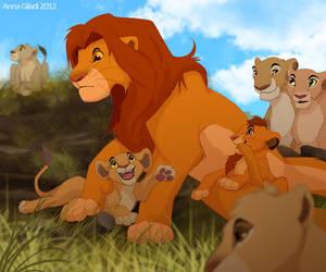 Simba's Family by AnnaGiladi