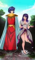 Efebo Abel and Athena by mikebloodslaver