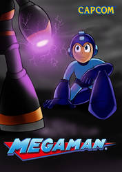 Megaman vs Bass by mikebloodslaver