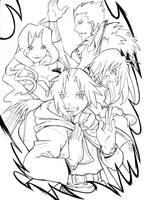 Full metal Alchemist__pencil by Guga-kun