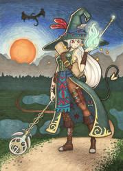 Waena the Wandering Witch by Hannzopie