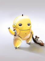 Banana Bot - by DanLuVisiArt