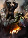 Kong Vs Mantis - by DanLuVisiArt