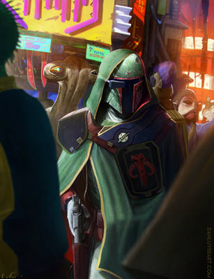 The Bounty Hunter by DanLuVisiArt