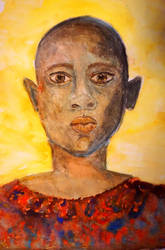 africa  child watercolor by ellymarinova