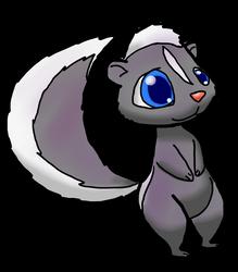 Skunk sticker by Alvro