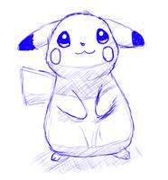 Pikachu stektch by Alvro