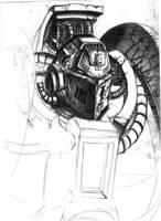 grey knights terminator WIP by DeVmarine