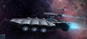 Starship Concept II by merbel