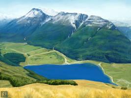 Blue Mountain Lake by merbel